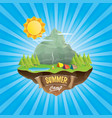 summer camp kids logo concept with vector image vector image