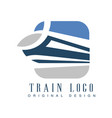 train logo original design railway transport vector image vector image