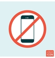Turn off smartphone icon vector image