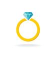 Wedding engagement ring simple color symbol