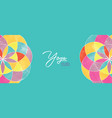 yoga studio banner abstract mandala flower vector image vector image