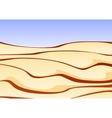 a sand desert with clear blue sky vector image
