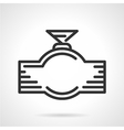 Faucet black line icon vector image
