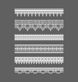 lace borders seamless lace patterns vector image