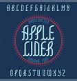 vintage label typeface vector image
