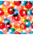 Colorful grunge overlapping circles brush strokes vector image
