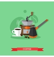 coffee making set vector image