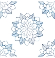 Seamless pattern with hand-drawn watercolor blue vector image