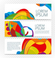 Abstract colorful banners set on transparent vector image