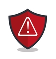 alert shield isolated icon design vector image