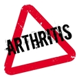 Arthritis rubber stamp vector image vector image