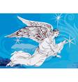 Artistic angel design vector image