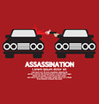 Assassination Shooting From The Car vector image vector image