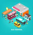 bus terminal isometric vector image