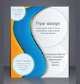 business brochure layout flyer template or vector image vector image