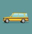 car flat icon vector image vector image
