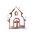 cartoon church sanctuary icon in comic style vector image