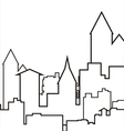 city icons vector image vector image