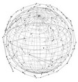close up of earth and network lines on top of it vector image