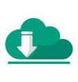 cloud computing download vector image vector image