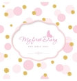 Cute template for notebook cover for girls My vector image vector image
