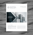 elegant white brochure design template with arrow vector image vector image