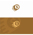 fast coin logo designs concept fast cash logo vector image vector image