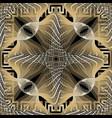 fractal modern 3d greek seamless pattern vector image vector image
