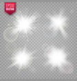 glowing lights set on transparent background lens vector image