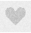 gray abstract grid heart vector image vector image