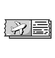 grayscale airplane ticket document to vacation vector image vector image