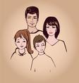happy family portret vector image