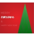 happy new year green xmas pine tree in low poly vector image vector image