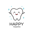 Healthy cute cartoon tooth character vector image
