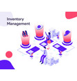 inventory management isometric modern flat vector image
