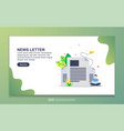 landing page template newsletter modern flat vector image vector image
