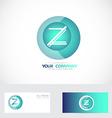 Letter Z sphere logo vector image vector image