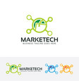 marketing technology logo design vector image vector image