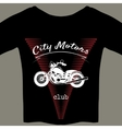 Motorcycle design template for t-shirt vector image vector image
