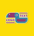 paper sticker on stylish background bird logo vector image vector image