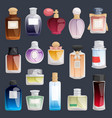 perfume fashion container bottle pack vector image vector image