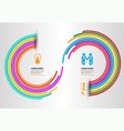 Rainbow circle arrow vector image