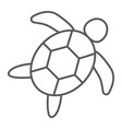 sea turtle thin line icon animal and underwater vector image vector image