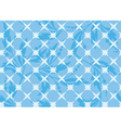 seamless blue geometric texture with flora vector image vector image