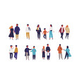 set different people - couple family and vector image vector image