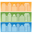 set of banners with colored linear city vector image