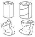 set of can vector image vector image