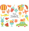 set of cartoon summer party journey watermelons vector image