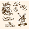 Set of vintage bakery vector image vector image