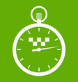 speedometer in taxi icon green vector image vector image